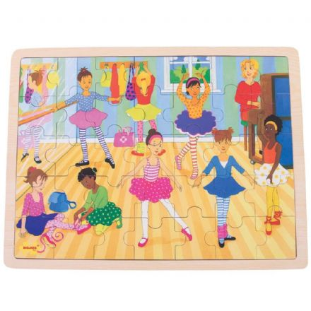 Bigjigs - Ballet Puzzle Tray